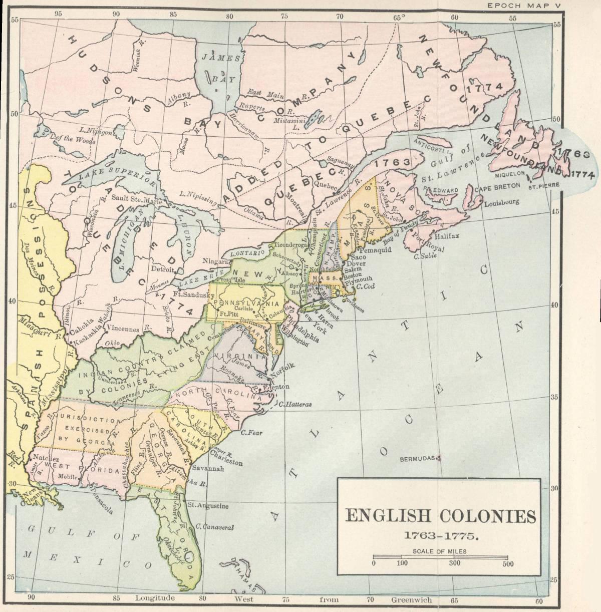 The Treaty Of Peace - Treaty of paris map